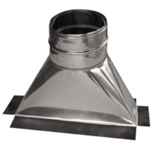 Smoke throat adaptor for base of the chimney