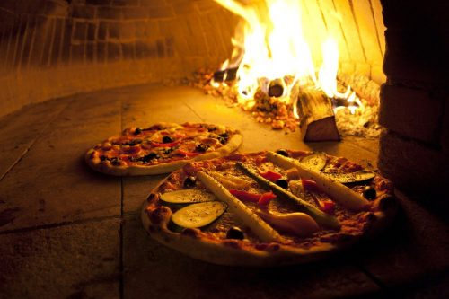 pizza, oven, wood burning stove
