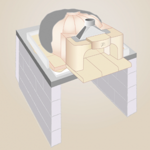 Step 5: Applying the refractory mortar