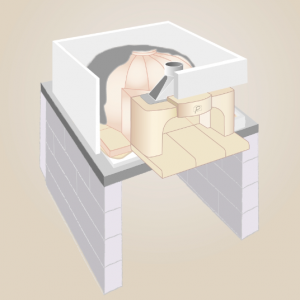 Step 6: Building the oven walls